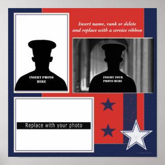 Custom Patriotic Photo Collage Display Poster