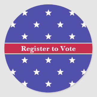 Custom Patriotic Register to Vote Sticker