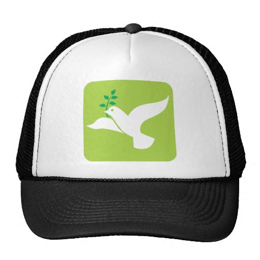 Custom Peace Dove With Olive Logo Mesh Hat