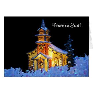 "Custom ""Peace on Earth"" Holiday Greeting Card"