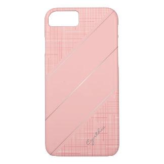 Custom Peach Pink Line Pattern Phone Cover