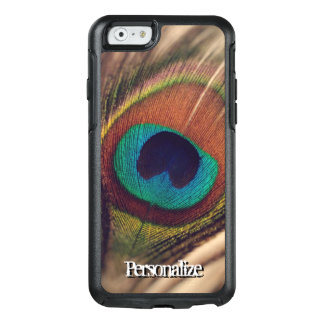Custom peacock feather photo sturdy phone case
