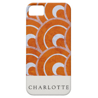 Custom Peacock Orange iPhone 5 Cover
