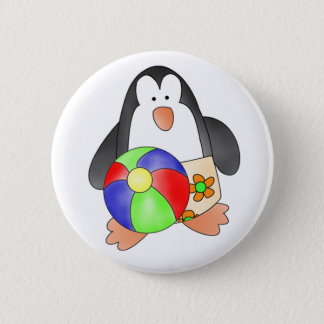 Custom Penguin Boy Swim Button