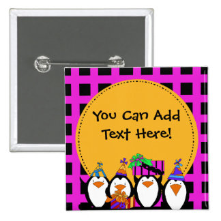 Custom Penguin Party Button