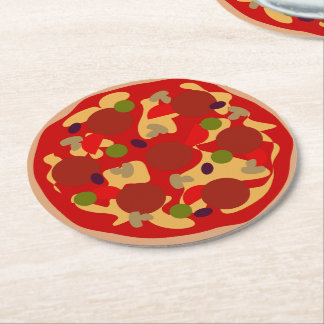 Custom pepperoni pizza fast food party coasters