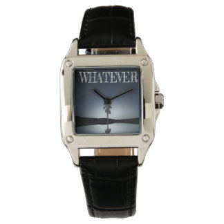 Custom Perfect Square Black Leather/whatever Watch
