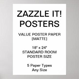 "Custom Personalised 18""x24"" Value Matte Poster"