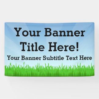 Custom Personalised 3x5 Summer Scene Banner