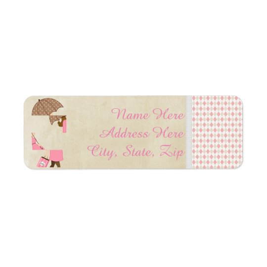 Custom Personalised Baby Return Address Label