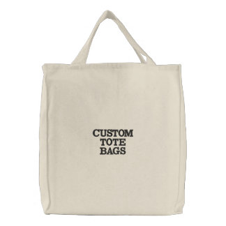 Custom Personalised Embroidered Tote Bag Template