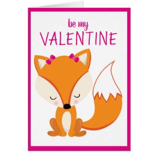 Custom Personalised Fox Heart Valentine's Day Card