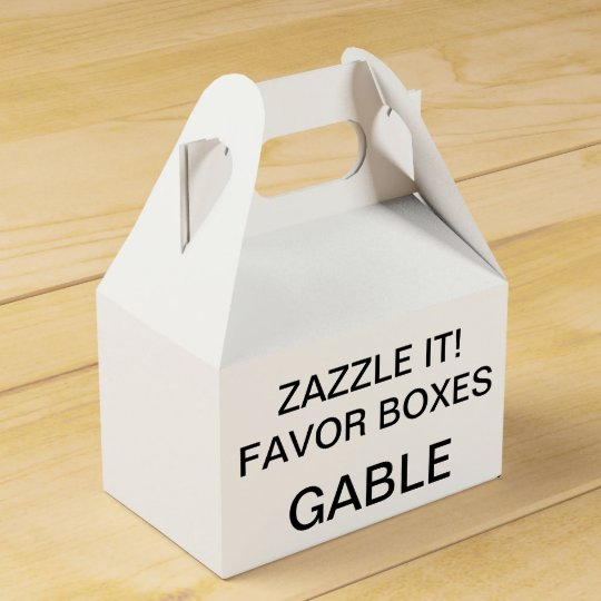 Custom Personalised Gable Favour Boxes Blank