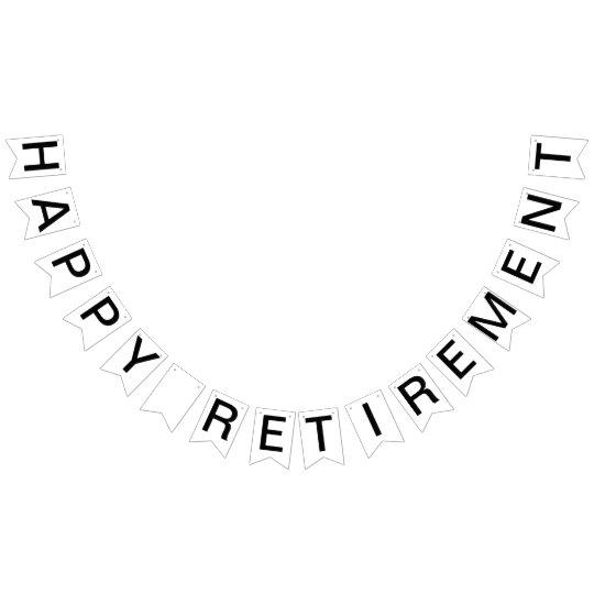 Custom Personalised Happy Retirement Flag Bunting