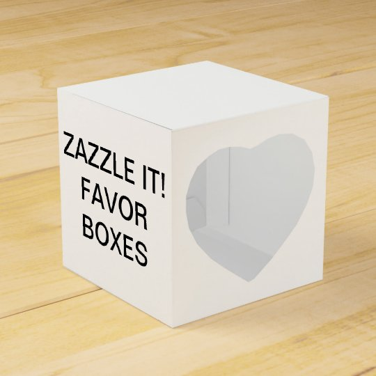 Custom Personalised Heart Favour Boxes Blank