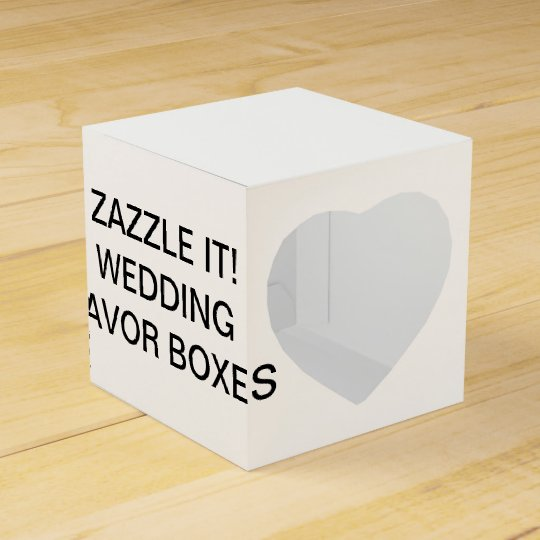 Custom Personalised Heart Wedding Favour Boxes