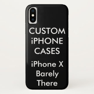 Custom Personalised iPhone X Barely There Case