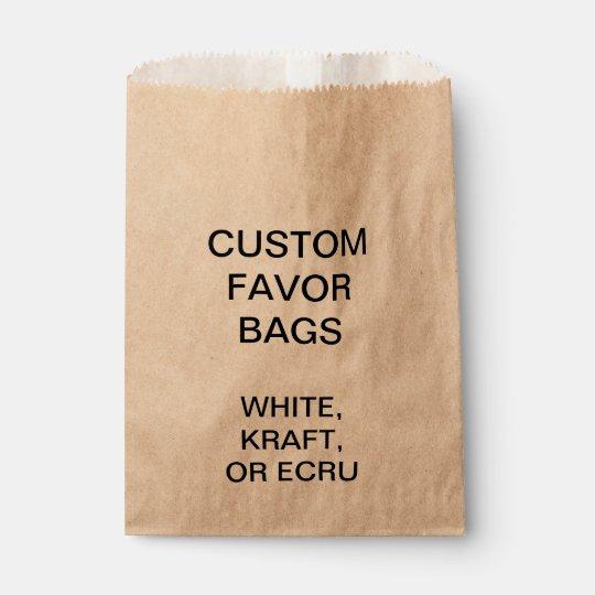 Custom Personalised Kraft Favour Bags Blank