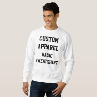 Custom Personalised Men's BASIC SWEATSHIRT