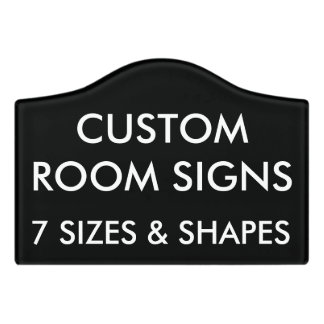 Custom Personalised Room Sign Blank Template