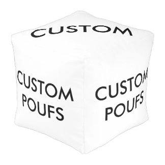 Custom Personalized Square Pouf Blank Template
