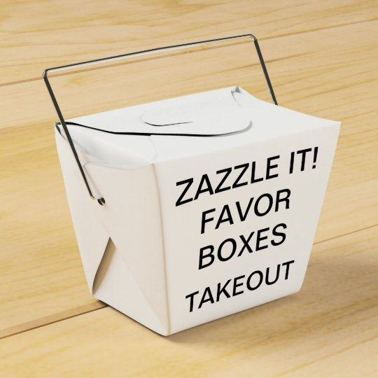 Custom Personalised Take Out Favour Boxes Blank
