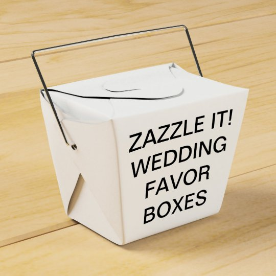 Custom Personalised Take Out Wedding Favour Boxes