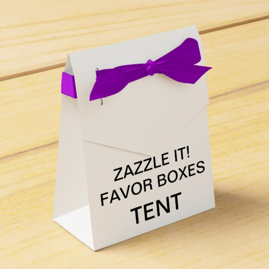 Custom Personalised Tent Favour Boxes Blank