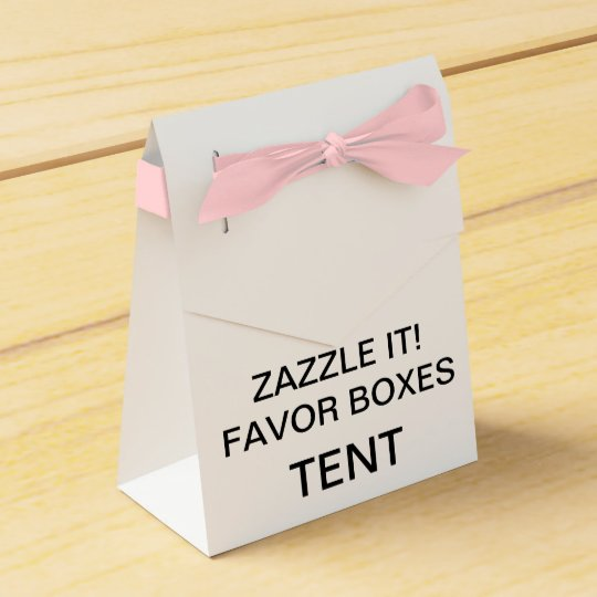 Custom Personalised Tent Favour Boxes Blank (Pink)