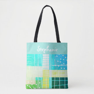 custom personalised tote abstract art design