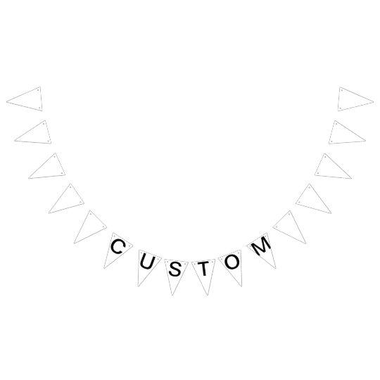 Custom Personalised Triangle Flag Bunting Blank