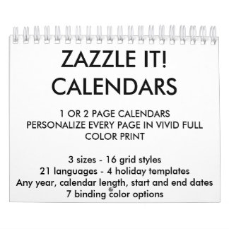 """Custom Personalised Two-Page 5.5"""" x 7"""" Calendar"""