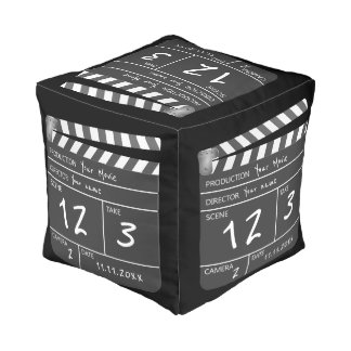 Custom Personalised Unique Movie Clapperboard Pouf