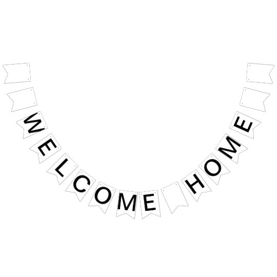 Custom Personalised Welcome Home Flag Bunting