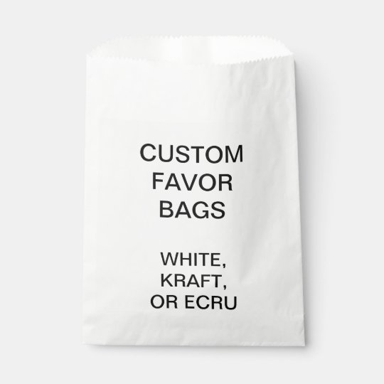 Custom Personalised White Favour Bags Blank