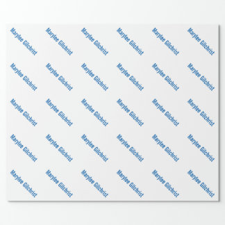 Custom Personalised Wrapping Paper