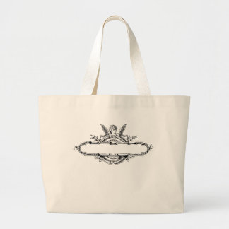 Custom personalize angel cherub fleur di lis print tote bags