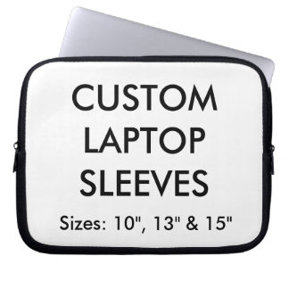 "Custom Personalized 10"" Laptop or Mac Sleeve Blank"