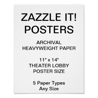 "Custom Personalized 11""x14"" Archival Paper Poster"