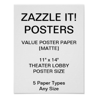"Custom Personalized 11""x14"" Value Matte Poster"