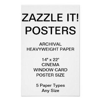 """Custom Personalized 14""""x22"""" Archival Paper Poster"""