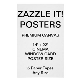 "Custom Personalized 14"" x 22"" Canvas Poster Blank"