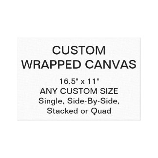 """Custom Personalized 16.5"""" x 11"""" Wrapped Canvas"""