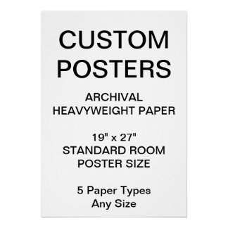 "Custom Personalized 19""x27"" Archival Paper Poster"