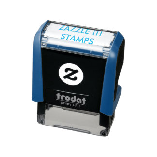 """Custom Personalized 1.4"""" x 0.4"""" Self-inking Stamp"""