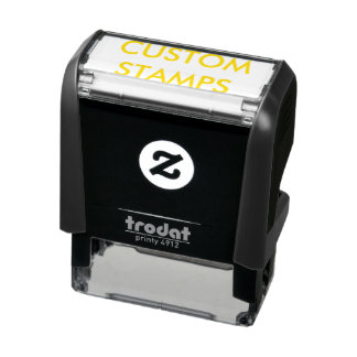 "Custom Personalized 1.8"" x 0.65"" Self-inking Stamp"