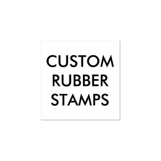 """Custom Personalized 1""""x1"""" Wood Rubber Stamp Blank"""