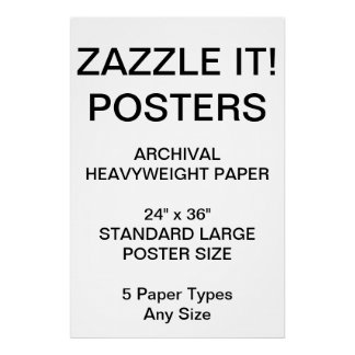 "Custom Personalized 24""x36"" Archival Paper Poster"