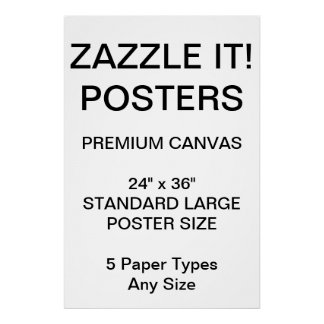"Custom Personalized 24"" x 36"" Canvas Poster Blank"
