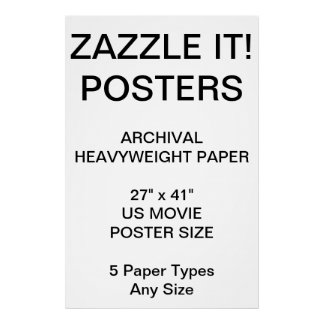 "Custom Personalized 27""x41"" Archical Paper Poster"